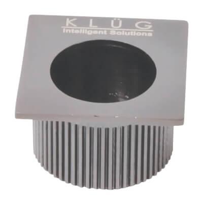 KLÜG Square Door Edge Finger Pull - 30 x 30mm - Satin Nickel