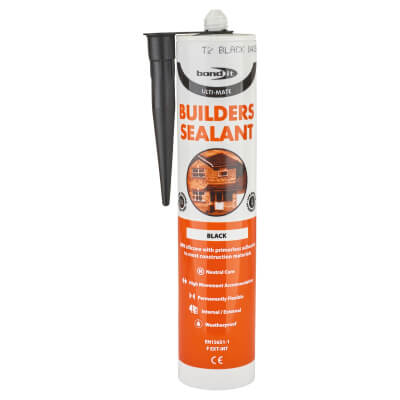 Bond It Ulti-Mate Builders' Silicone - 310ml - Black)