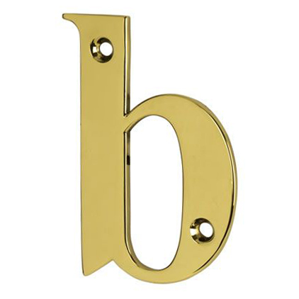 76mm Letter - B - Gold