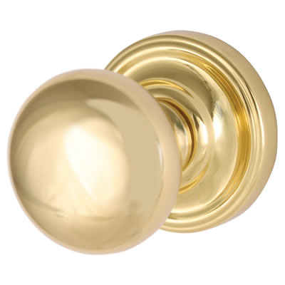 M Marcus Hampstead Mortice Door Knobset – 62mm - Polished Brass