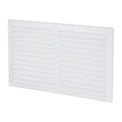 Louvre Vent - 271 x 171mm - 17760mm2 Free Air Flow - White Plastic