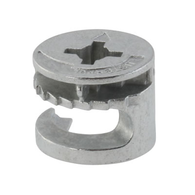Rimless Cam Connector - Min Panel Thickness 15mm - Zinc Plated - Pack 50