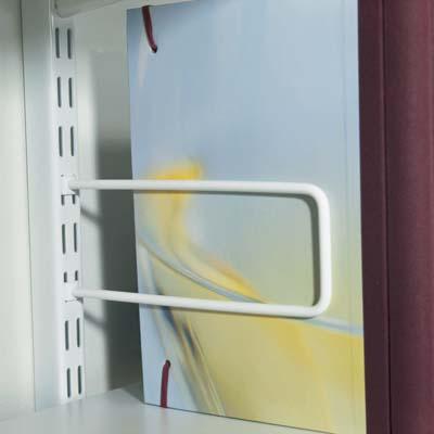 elfa Sprung Rod Bookend - 200mm - White