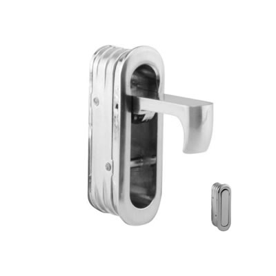 Door Edge Finger Pull - 58 x 18 x 18mm - Satin Nickel)