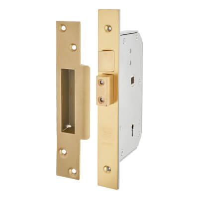 UNION® 3K70 5 Detainer High Security Sashlock - 73mm Case - 44mm Backset - Polished Brass - RH
