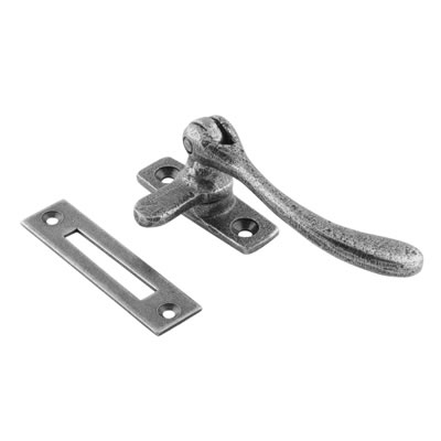 Olde Forge Pear Drop Window Fastener - Pewter