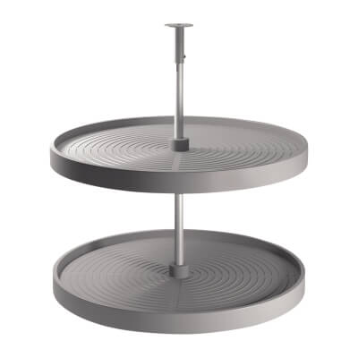 Full Tray Carousel Set - To Suit 900mm Cabinet - Grey Plastic
