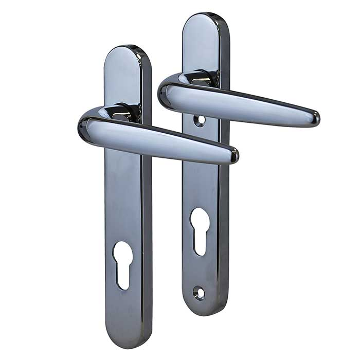 Trojan Sparta Multipoint Handle - uPVC/Timber - Lever/Lever - Chrome)