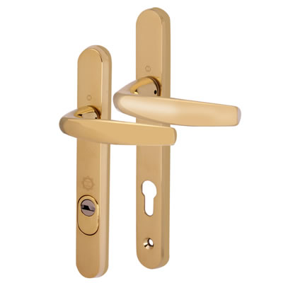 Hoppe PAS 24 Multipoint Security Handle - uPVC/Timber - Short Plate 92mm Centres