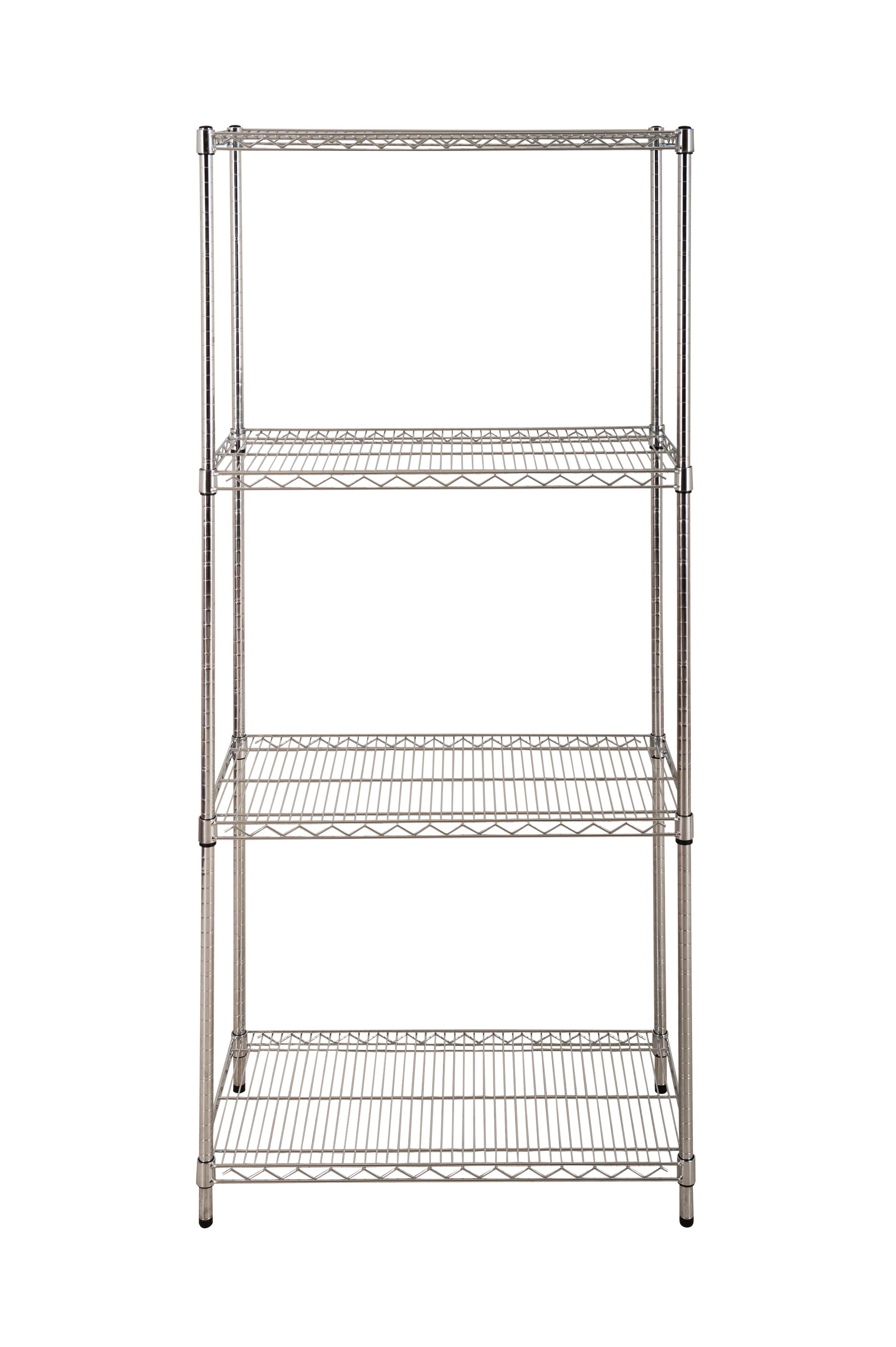 4 Shelf Chrome Starter Bay - 1880 x 915 x 610