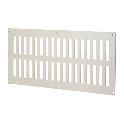Plain Slotted Vent - 305 x 152mm - 11590mm2 Free Air Flow - Satin Stainless Steel