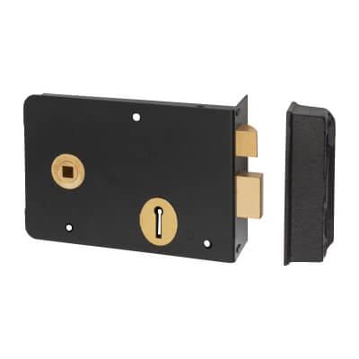 UNION® 1439 Scotch Rim Lock - Left Hand - Black)