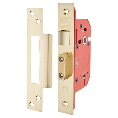 UNION® 22WCS StrongBOLT Bathroom Lock - 68mm Case - 45mm Backset - Brass