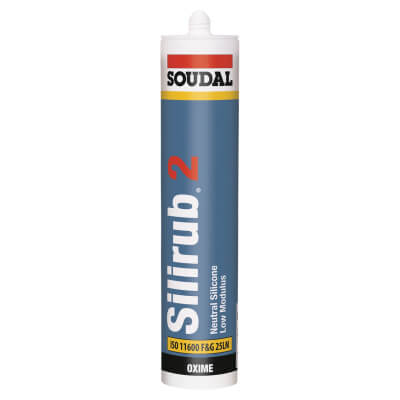 Soudal Silirub 2 Neutral Silicone - 300ml - Black)