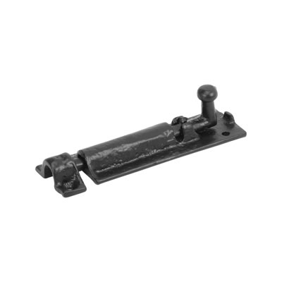 Elden Tudor Barrel Bolt - 101 x 38mm - Antique Black Iron)