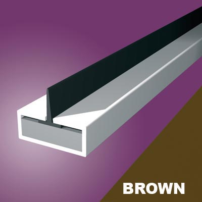 Pyroplex Single Centre Flipper Intumescent Strip - 20 x 4 x 2100mm - Brown - Pack 10)