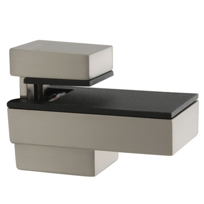 Decorative Shelf Support Bracket - 6-12mm Shelf Thickness - Brushed Chrome)