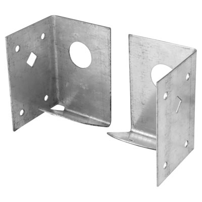 Arris Rail Fence Support Bracket - Galvanised)