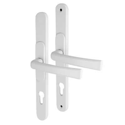 Adjustable Multipoint Lock Handle - uPVC/Timber - 68-92mm centres - White)