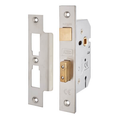 UNION® 2277 3 Lever Sashlock - 77.5mm Case - 57mm Backset - Satin Chrome