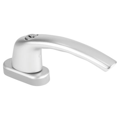 Hoppe TBT1 Locking Tilt Before Turn Handle - uPVC / Timber - Anodised Silver