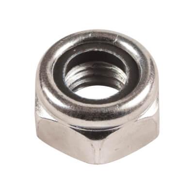 Nylon Insert Nut (Nyloc) - M10 - Pack 10