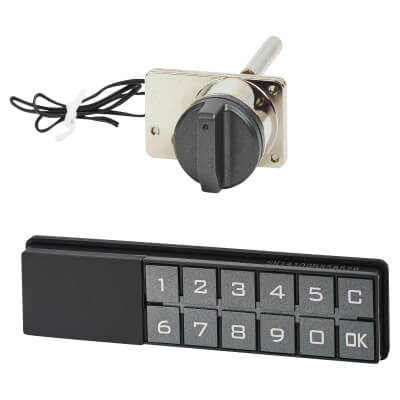 Code Operated Central Drawer Lock - Horizontal Keypad