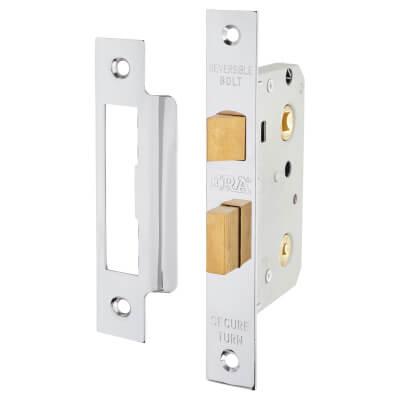 ERA® Bathroom Lock - 76mm Case - 56mm Backset - Chrome Effect)