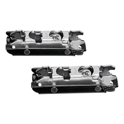 Blum CLIP Straight Mounting Plate - Screw On - 0mm Spacing - Steel - Black Onyx