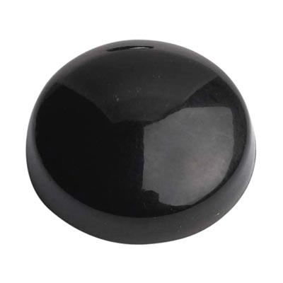 Plastic Screw Dome - Black