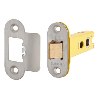 Altro Heavy Duty Tubular Latch - 78mm Case - 57mm Backset - Radius - Satin Stainless