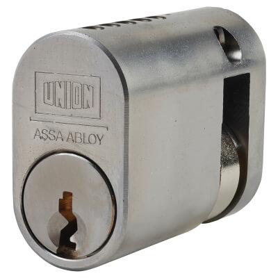 UNION® J2X1 Oval 2 x 1 Single Cylinder - 40mm - Satin Chrome