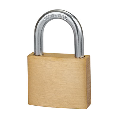Solid Brass Padlock - 40mm - Keyed Alike Key No 1