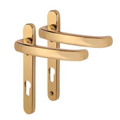 Fab & Fix Windsor Extended Multipoint Lever/Lever Door Handle - uPVC/Timber - 92mm centres - Hardex