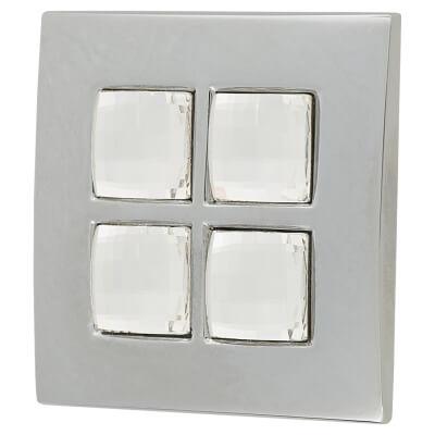 Aglio Swarovski Crystal Delos Cabinet Handle - 38mm