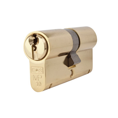 Eurospec MP10 - Euro Double Cylinder - 32 + 32mm - Polished Brass  - Keyed to Differ