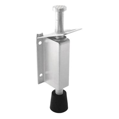Altro Foot Operated Door Holder - 140mm - Satin Stainless Steel
