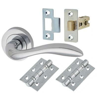 Morello Sussex Door Handle - Door Kit - Polished Chrome