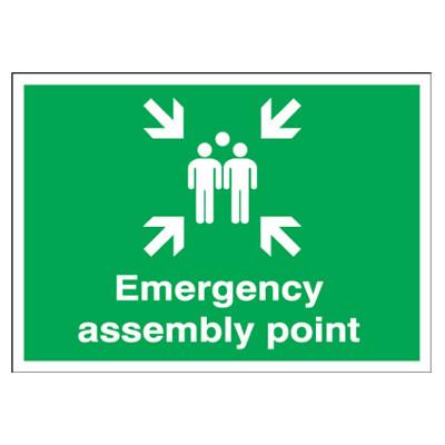 Emergency Assembly Point - 250 x 350mm - Rigid Plastic)