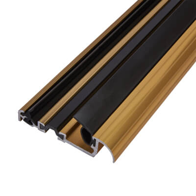 Exitex Low Height Macclex Threshold - Thermally Broken - 1800mm - Inward Opening Doors - Gold Anodi