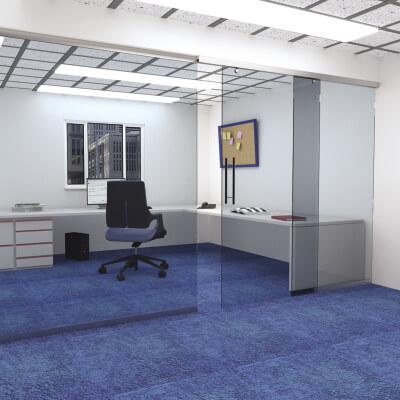 KLÜG 2000mm Fixed Glass Panel Kit)