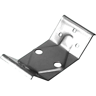 Steel Table Leg Plate - 126 x 57 x 40mm - Zinc Plated Steel - Pack 10