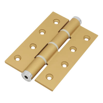 Architectural Single Action Spring Hinge - 120mm - Gold