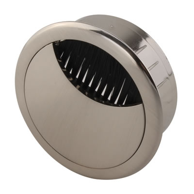 ION Mirror Effect Round Cable Tidy - 60mm - Brushed Nickel)