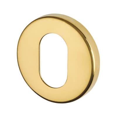 Altro Escutcheon - Oval - PVD Brass
