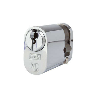 Eurospec MP10 - Oval Single Cylinder - 32 + 10mm - Polished Chrome  - Keyed to Differ