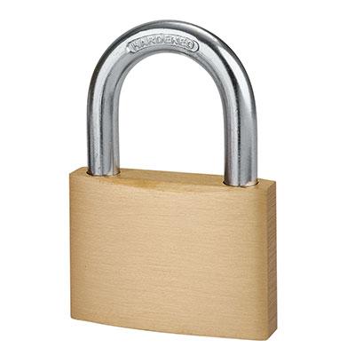 Solid Brass Padlock - 60mm - Keyed Alike Key No 1)