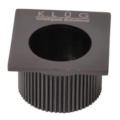 KLÜG Square Door Edge Finger Pull - 30 x 30mm - Polished Black Nickel