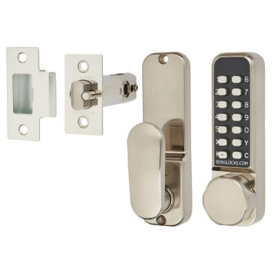 Borg BL2501 Easicode Pro Code Operated Lock with Thumbturn - Stainless Steel