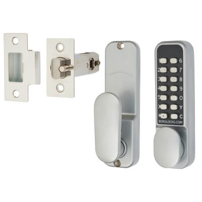 Borg BL2201 Easicode Pro Code Operated Lock with Thumbturn - Grey